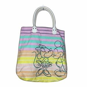 Vintage Disney tote pastel color Mickey and Minnie